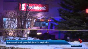 Armoured vehicle guards injured in explosion during Edmonton bank robbery